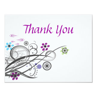 Thank You Cards Retro Circles And Loops
