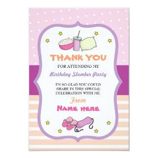 Thank You Cards Slumber Party Birthday Sleep Over