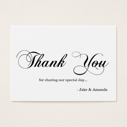 Thank You Cards | THANK YOU-whiteblack