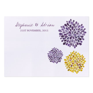 Thank You Cards Watercolor Dahlia Flowers Business Cards