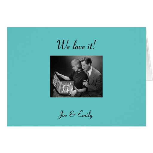 Thank U Cards For Wedding Gifts : Retro Thank You CardsWedding Gifts Zazzle