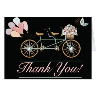 muddymomdesigns Thank You Cards Wedding Tandem Bicycle Balloons