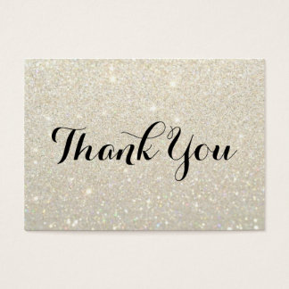 Thank You Cards - White Gold Glit Fab