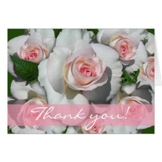 Thank You Cards with White Roses