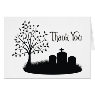 Thank You  Cemetery Headstones Card