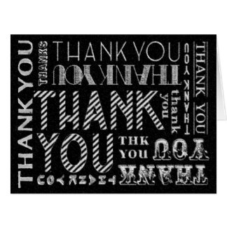 Thank You Chalk Typography XL Card (Color Options)