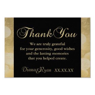 Thank you Champagne Damask Cards