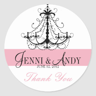 Thank You Chandelier Names Wedding Favour Stickers