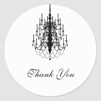 thank you chandelier seal classic round sticker