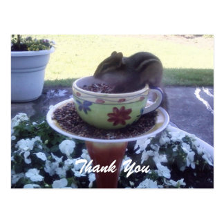 """Thank You"" Chippy the Chipmunk Postcard"