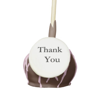 Thank You, Chocolate Cake Pops, Icing Pink Drizzle Cake Pops