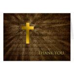 Thank You - Christian Gold Cross - John 3:16 Card