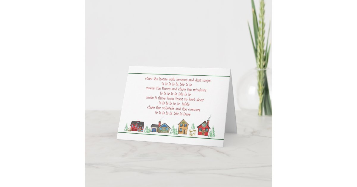 Thank you Christmas card Maid or Cleaning Service | Zazzle.com