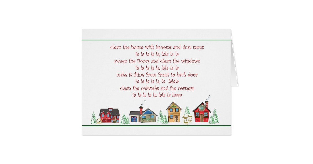 Thank You Christmas Card Maid Or Cleaning Service Zazzle Com
