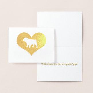 Thank You Christmas Gift Bulldog Foil Card