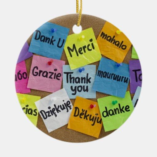 thank you christmas ornament