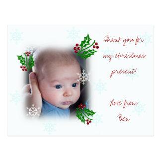 Thank you Christmas postcard