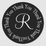 """Thank You Circle Letter """"R"""" Stickers"""