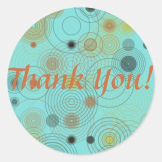 Thank You Circles Square Sticker