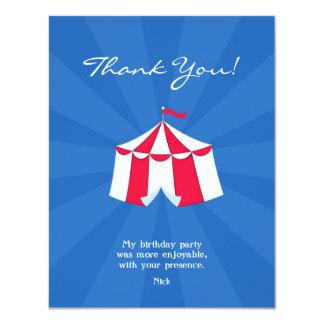 Thank You Circus / Carnival Flat Card