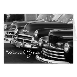Thank You Classic  Cars greeting card