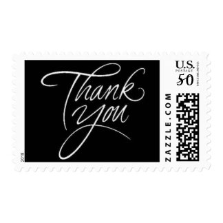 Thank You - classic postage stamp med