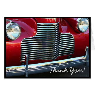 Thank You Classic red car greeting card