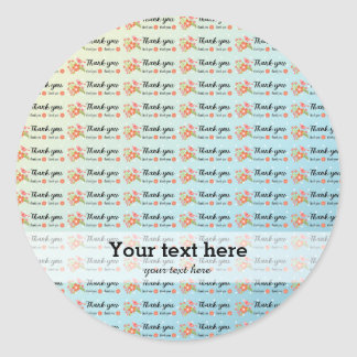 Thank you classic round sticker
