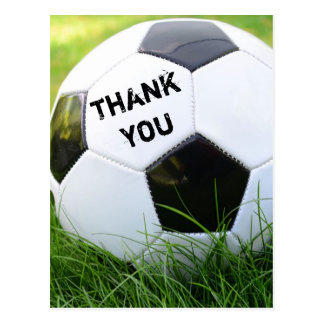 Thank You Classic Soccer Ball Postcard
