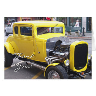 Thank You Classic Yellow Car greeting card