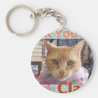 THANK YOU CLAUDE KEYCHAIN