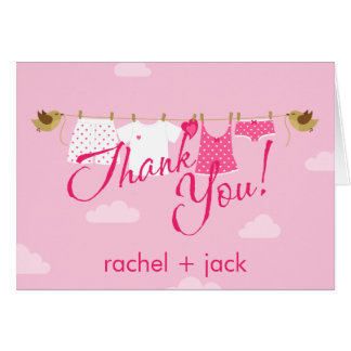 Thank You Clothes Line Card