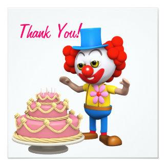 Thank You! Clown Birthday Cake Card