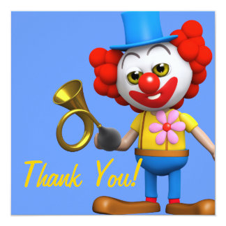Thank You! Clown Honk Honk Thankyou Card