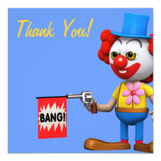 Thank You! Clown Joke Thankyou Card