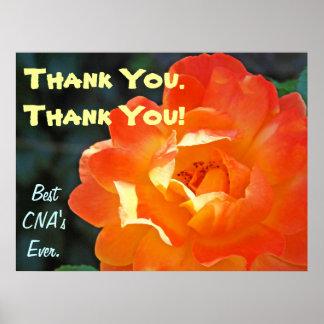 Thank You CNA art prints posters Best Nursing CNA