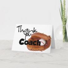 Thank You Coach, Baseball Card