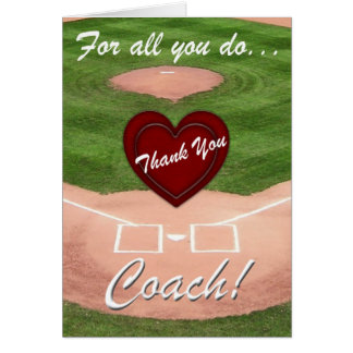 Thank You Coach!-Baseball Card