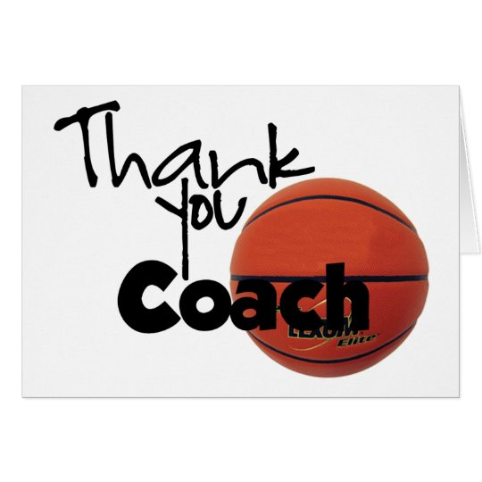 Thank You Coach, Basketball Card