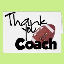 Thank You Coach, Football Card