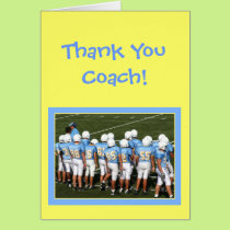 Thank you coach Football players greeting card