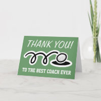 Thank you coach | golf greeting cards