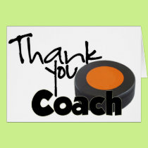 Thank You Coach, Hockey Card