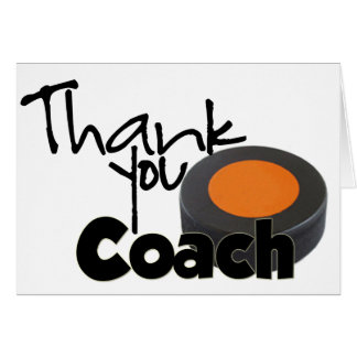 Thank You Coach, Hockey Greeting Card