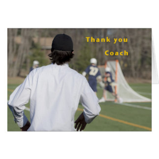 Thank You Coach (Lacrosse) Card