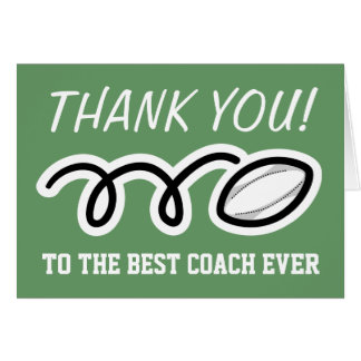 Thank you coach | rugby greeting cards