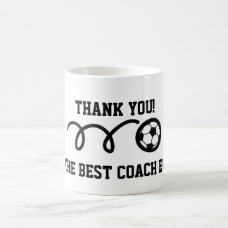 Thank you coach | soccer ball coffee mug