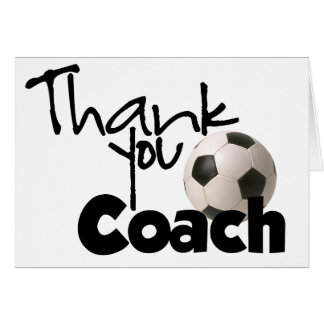 Thank You Coach, Soccer Greeting Card