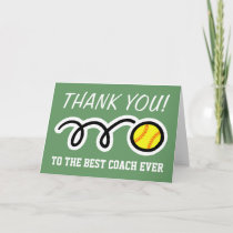 Thank you coach | softball greeting cards