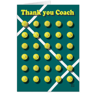 Thank you Coach, tennis Greeting Cards